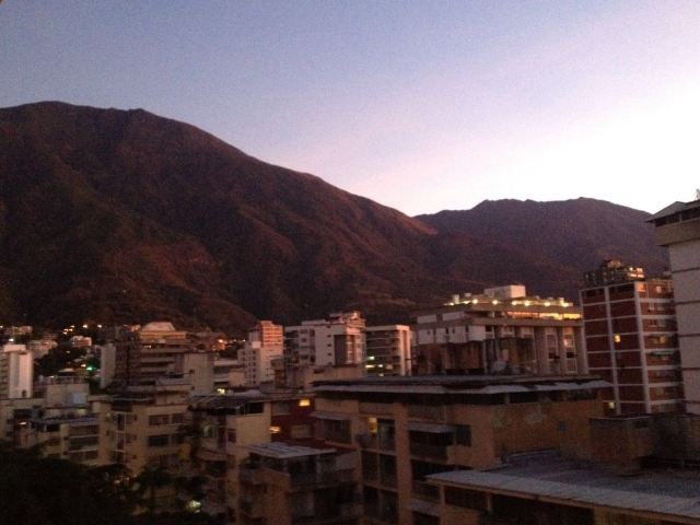 VZ Dawn in Caracas, view of El Avila mountains.JPG